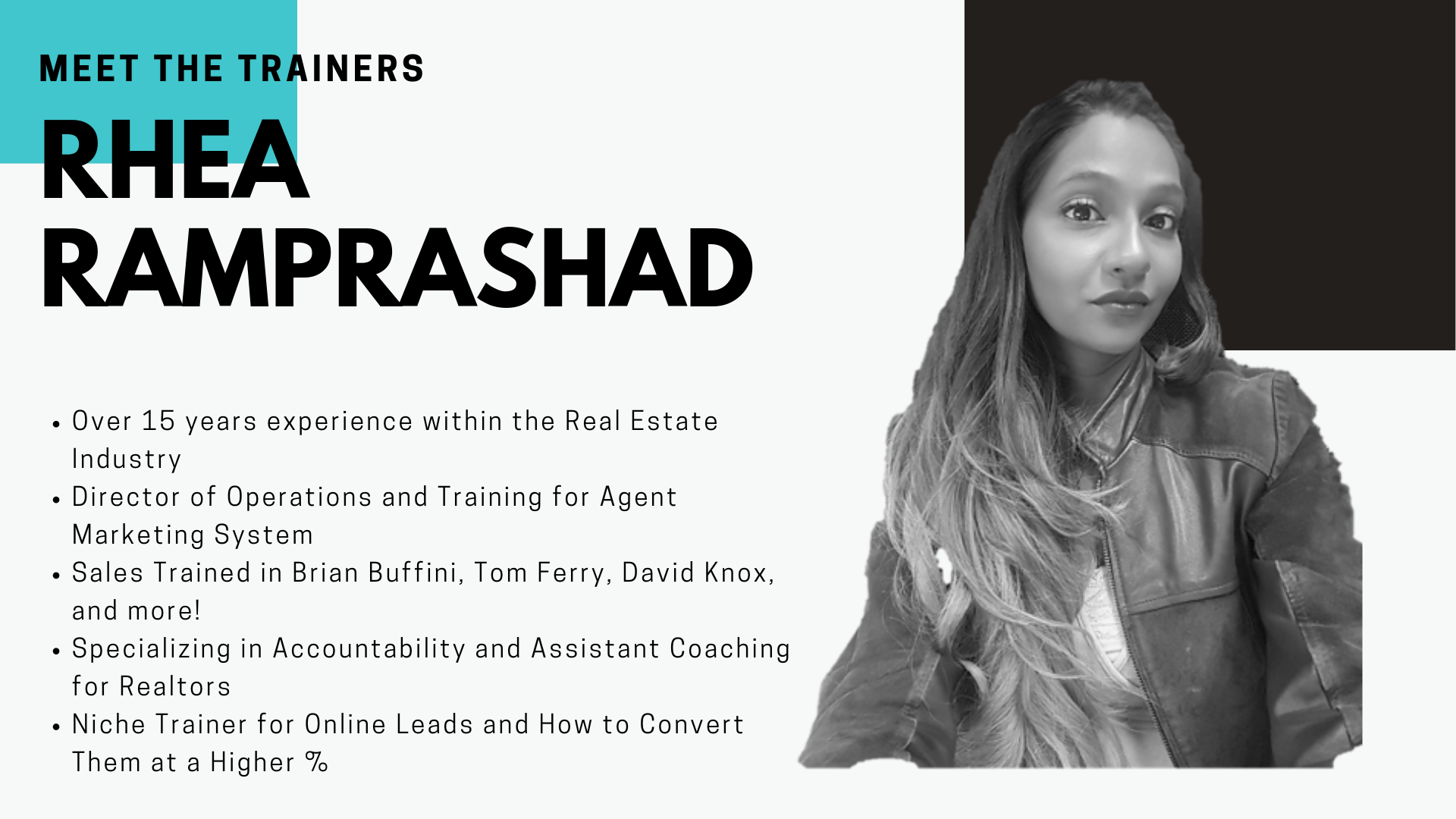 Rhea Ramprashad - Meet the Trainers