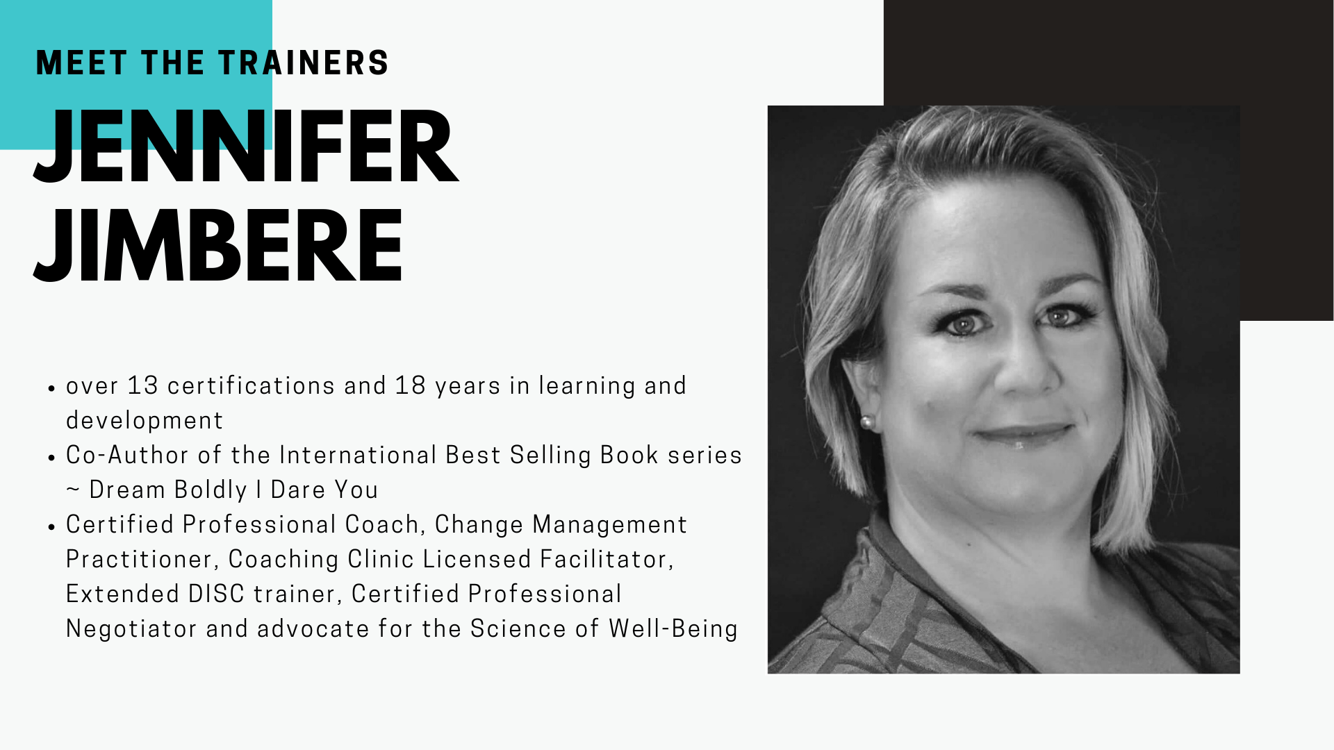 Jennifer Jimbere - Meet the Trainers